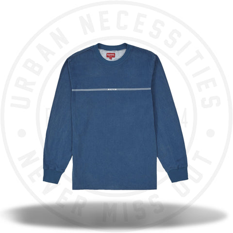 Supreme Printed Stripe L/S Top Blue-Urban Necessities