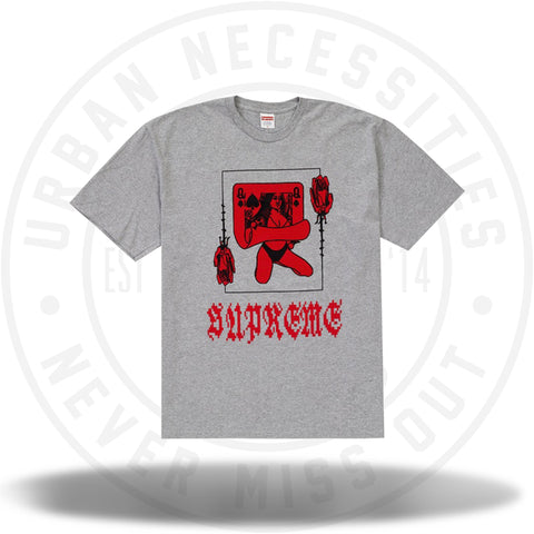 Supreme Queen Tee Heather Grey-Urban Necessities