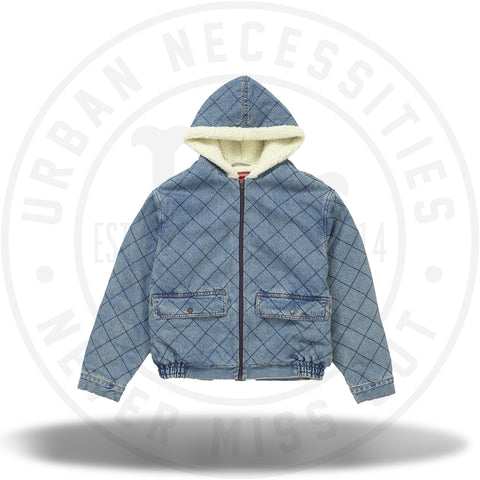 Supreme Quilted Denim Pilot Jacket Washed Blue-Urban Necessities