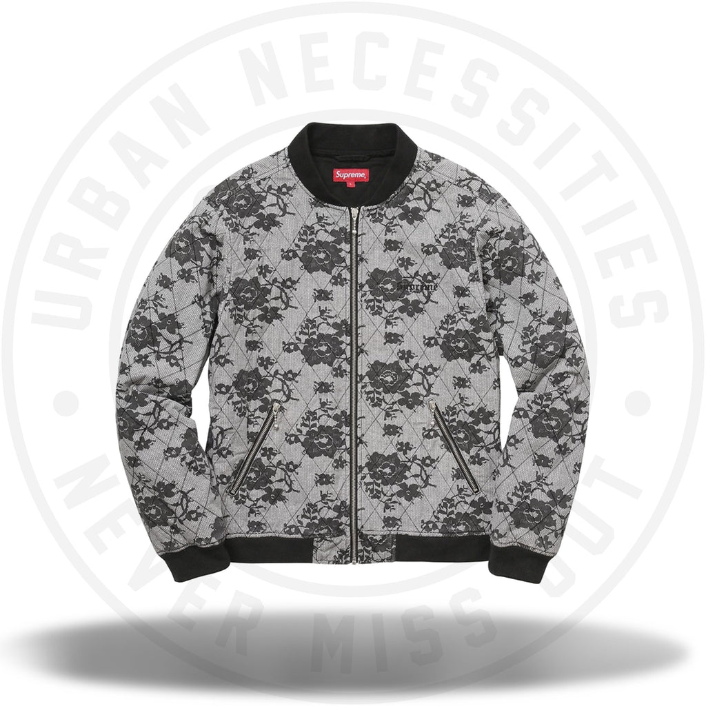 Supreme Quilted Lace Bomber Jacket White-Urban Necessities