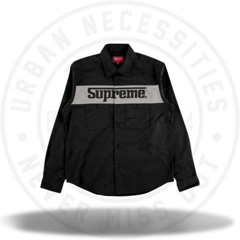 Supreme Racing Logo Work Shirt Black-Urban Necessities