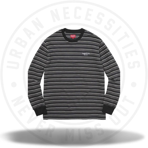 Supreme Raised Stripe L/S Top Black-Urban Necessities