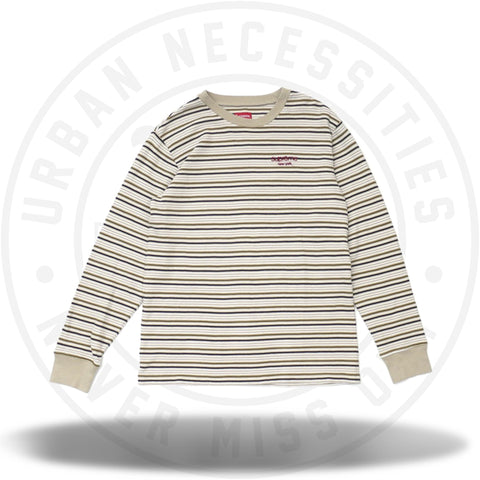 Supreme Raised Stripe L/S Top Tan-Urban Necessities