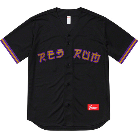 Supreme Red Rum Baseball Jersey Black-Urban Necessities