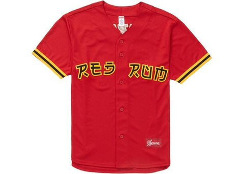 Supreme Red Rum Baseball Jersey Red-Urban Necessities