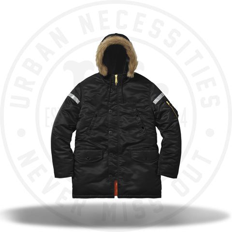 Supreme Reflective Cross N-3B Parka Black-Urban Necessities