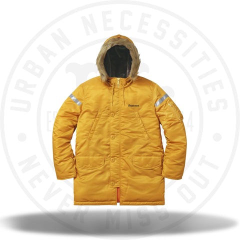 Supreme Reflective Cross N-3B Parka Yellow-Urban Necessities