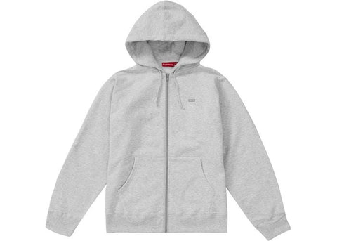 Supreme Reflective Small Box Zip Up Sweatshirt Ash Grey-Urban Necessities