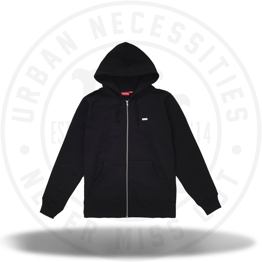 Supreme Reflective Small Box Zip Up Sweatshirt Black-Urban Necessities