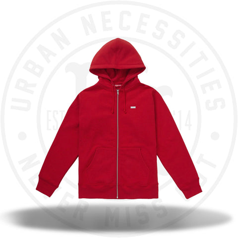 Supreme Reflective Small Box Zip Up Sweatshirt Red-Urban Necessities