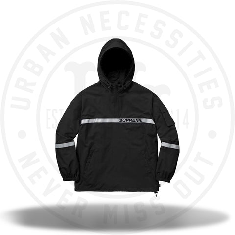 Supreme Reflective Taping Hooded Pullover Black-Urban Necessities