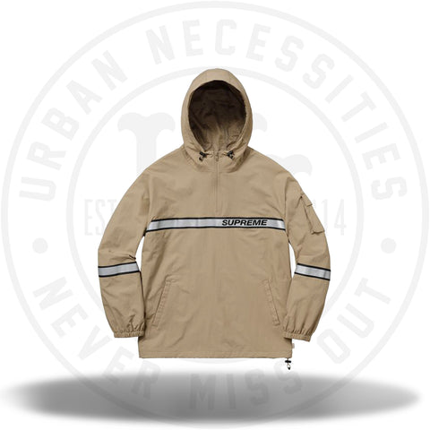 Supreme Reflective Taping Hooded Pullover Tan-Urban Necessities