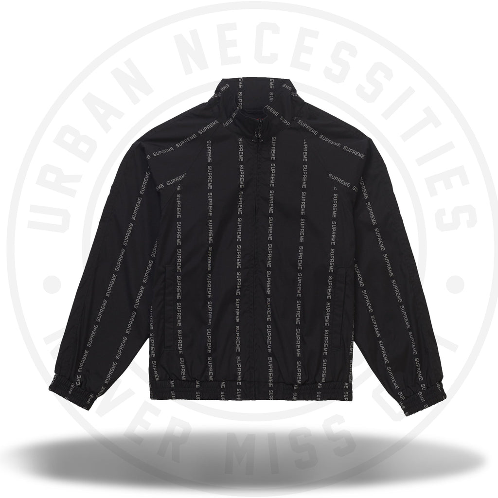 Supreme Reflective Text Track Jacket Black-Urban Necessities