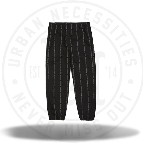 Supreme Reflective Text Track Pant Black-Urban Necessities