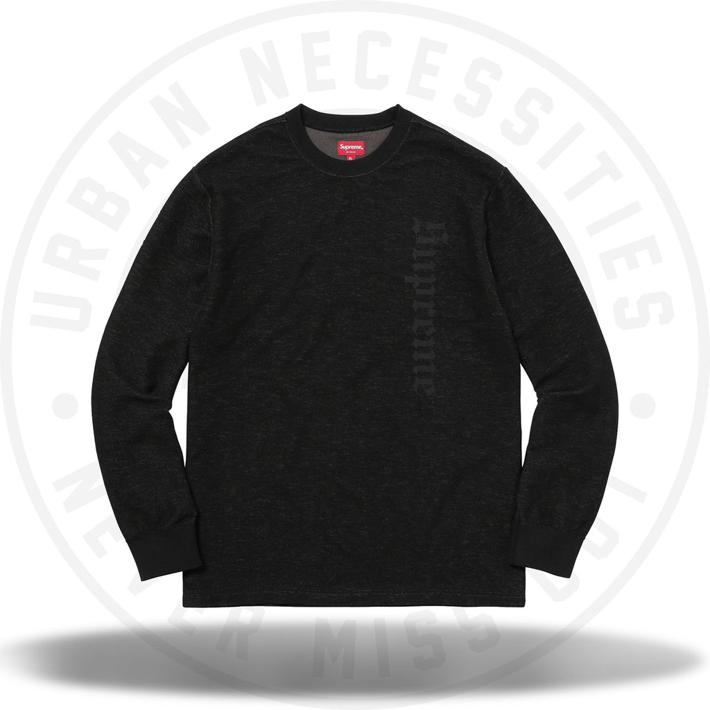 Supreme Reverse Terry LS Top Black-Urban Necessities