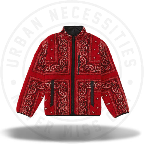 Supreme Reversible Bandana Fleece Jacket Red-Urban Necessities