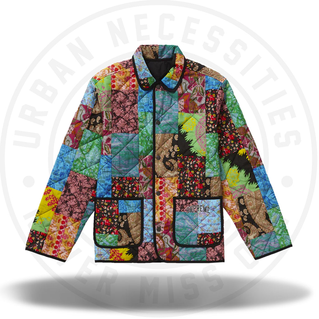 Supreme Reversible Patchwork Quilted Jacket Multicolor-Urban Necessities