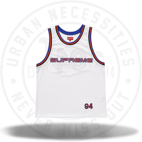 Supreme Rhinestone Basketball Jersey White-Urban Necessities