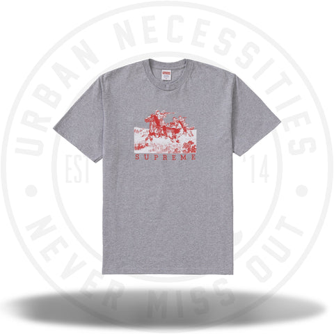Supreme Riders Tee Heather Grey-Urban Necessities