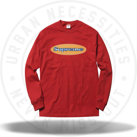 Supreme Ripple L/S Tee Red-Urban Necessities
