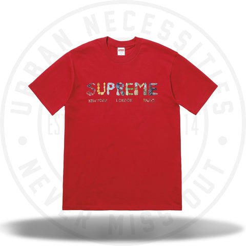 Supreme Rocks Tee Red-Urban Necessities