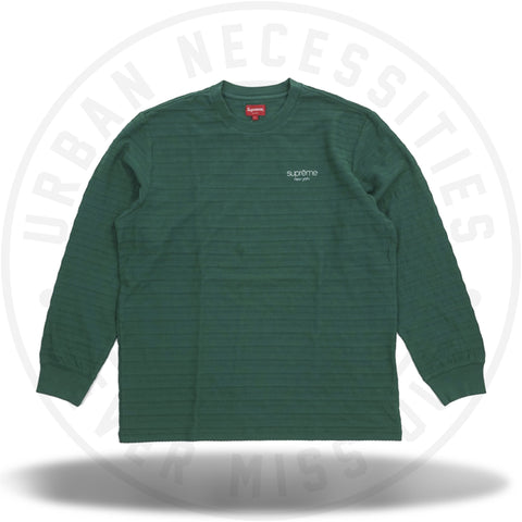 Supreme Rope Stripe L/S Top Dark Green-Urban Necessities
