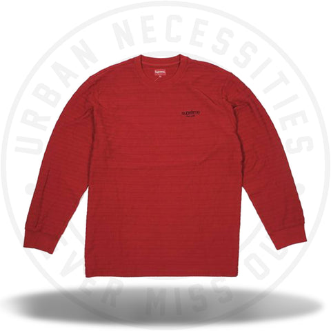 Supreme Rope Stripe L/S Top Dark Red-Urban Necessities