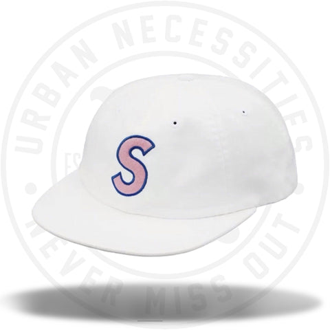 Supreme S Logo Felt 6-Panel White-Urban Necessities