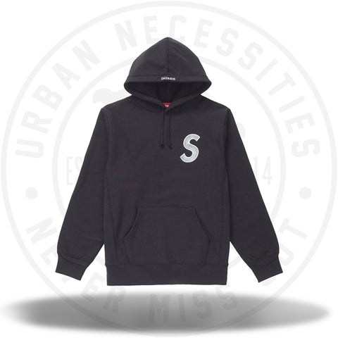 Supreme S Logo Hooded Sweatshirt (FW18) Black-Urban Necessities