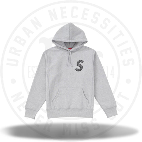 Supreme S Logo Hooded Sweatshirt (FW18) Heather Grey-Urban Necessities