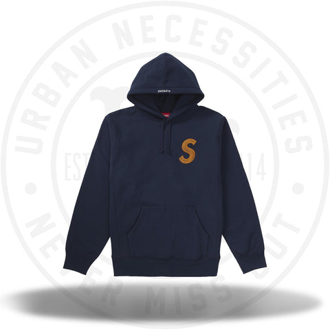 Supreme S Logo Hooded Sweatshirt (FW18) Navy-Urban Necessities