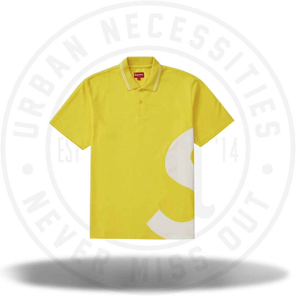 Supreme S Logo Polo Yellow-Urban Necessities