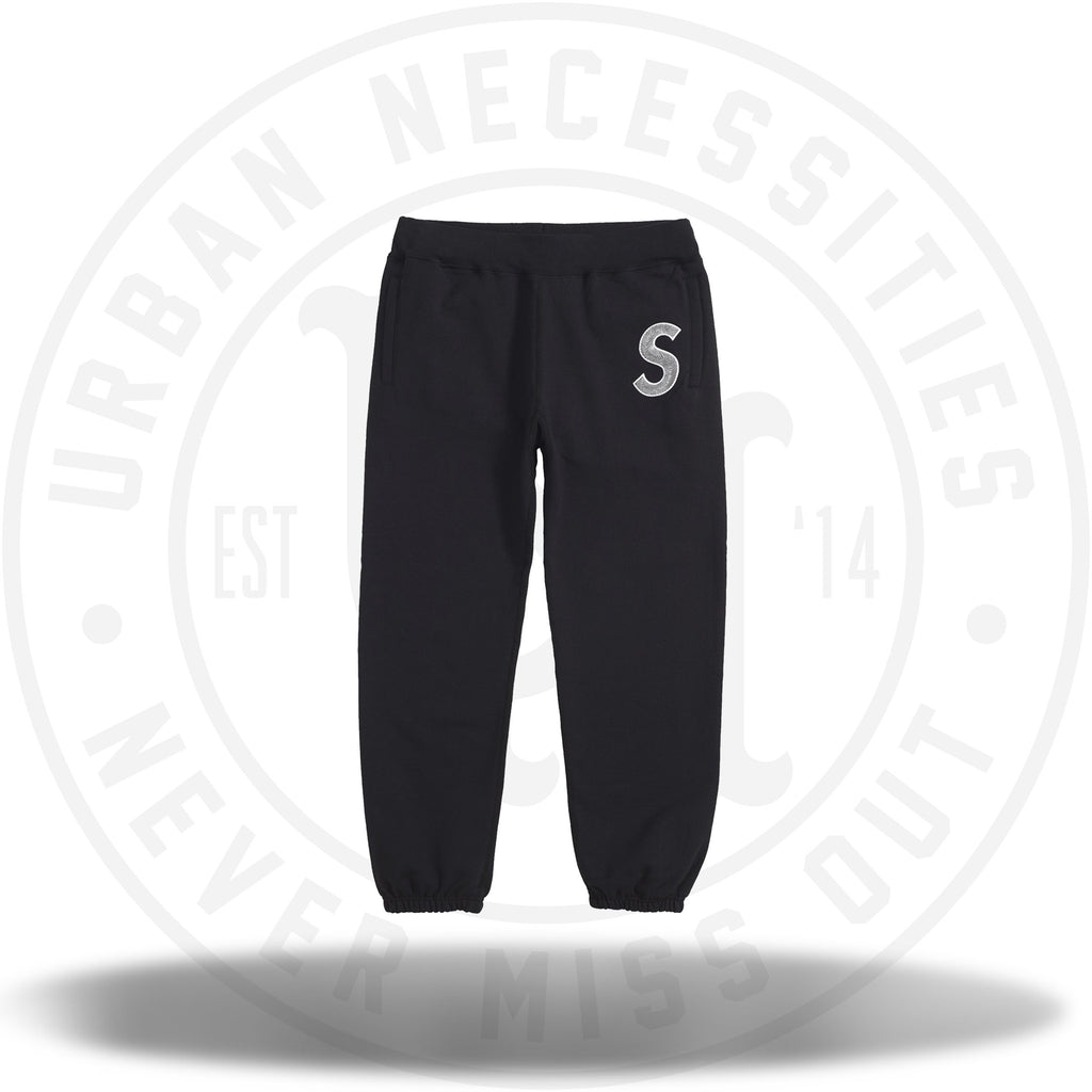 Supreme S Logo Sweatpant Black-Urban Necessities