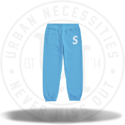 Supreme S Logo Sweatpant Bright Royal FW18-Urban Necessities