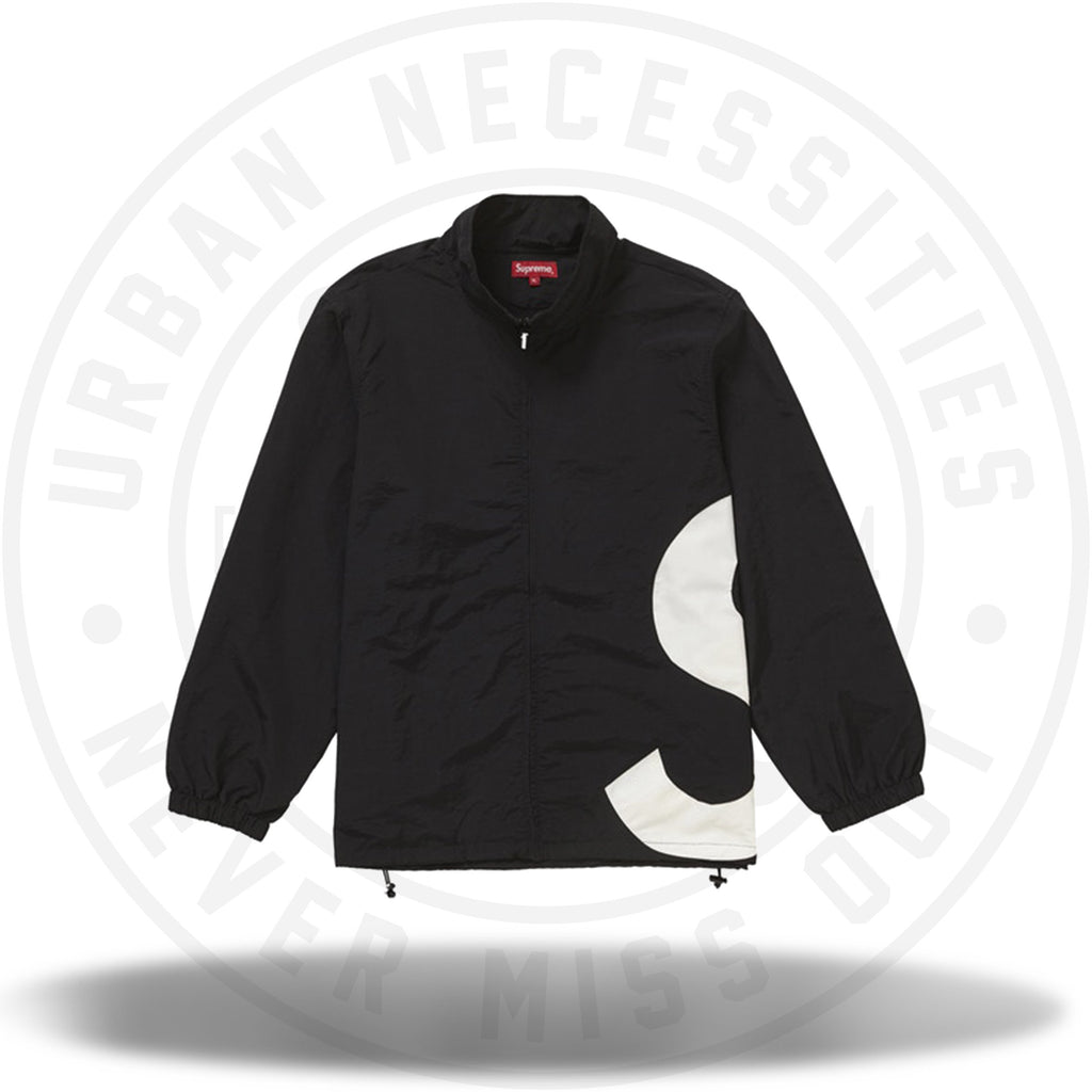 Supreme S Logo Track Jacket Black-Urban Necessities