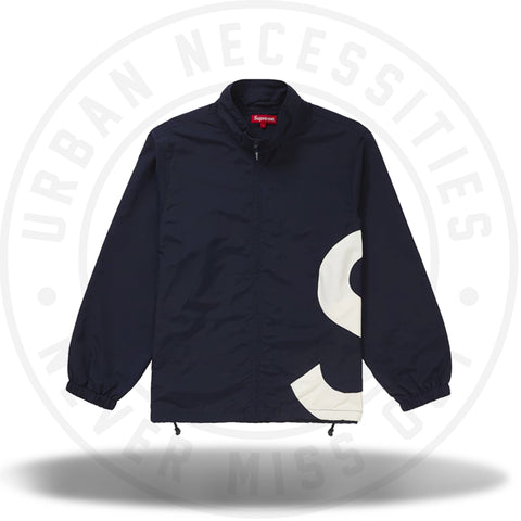 Supreme S Logo Track Jacket Navy-Urban Necessities