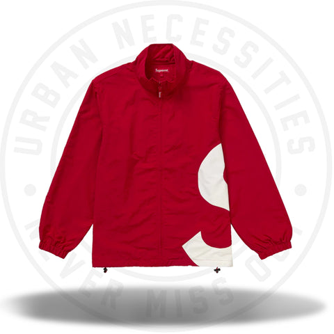 Supreme S Logo Track Jacket Red-Urban Necessities