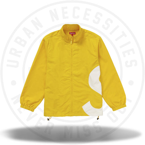 Supreme S Logo Track Jacket Yellow-Urban Necessities