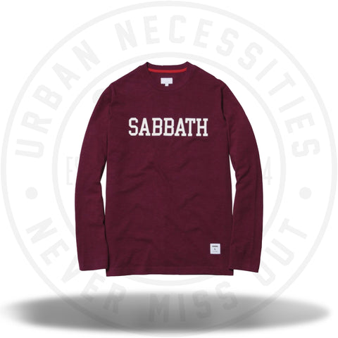 Supreme Sabbath L/S Tee Burgundy-Urban Necessities