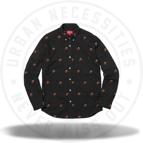 Supreme Sacred Hearts Oxford Shirt Black-Urban Necessities