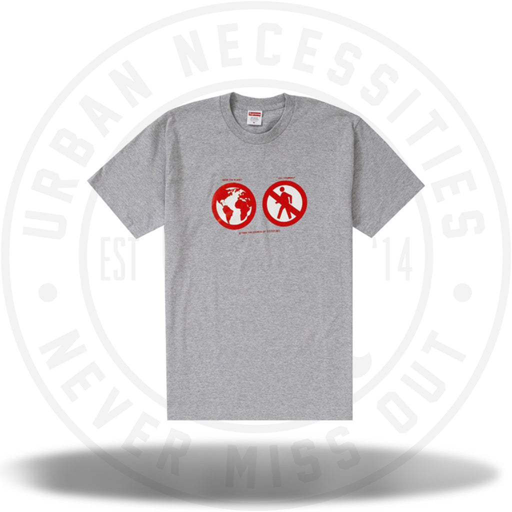 Supreme Save The Planet Tee Heather Grey-Urban Necessities