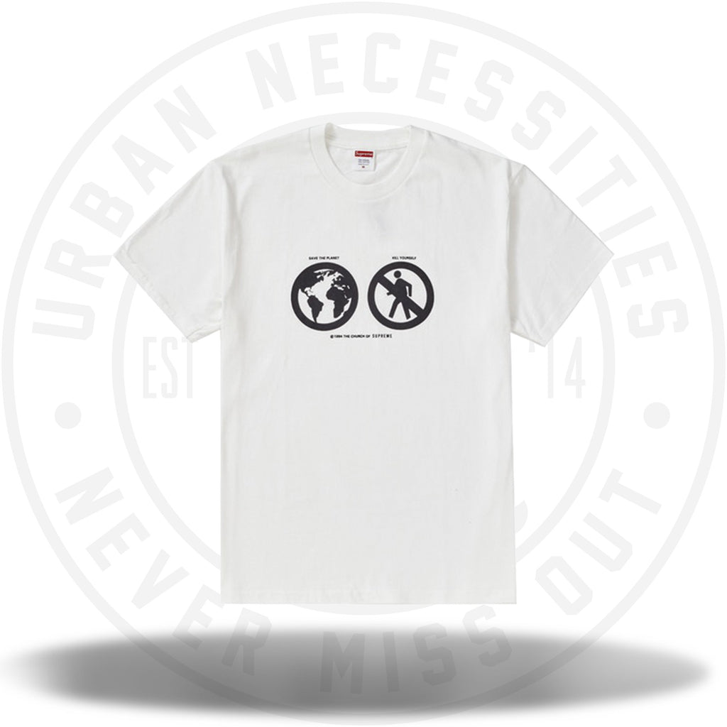 Supreme Save The Planet Tee White-Urban Necessities