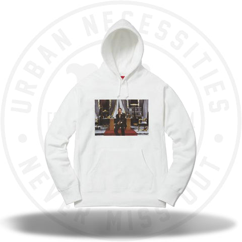 Supreme Scarface Friend Hooded Sweatshirt White-Urban Necessities 7bfa92ce1
