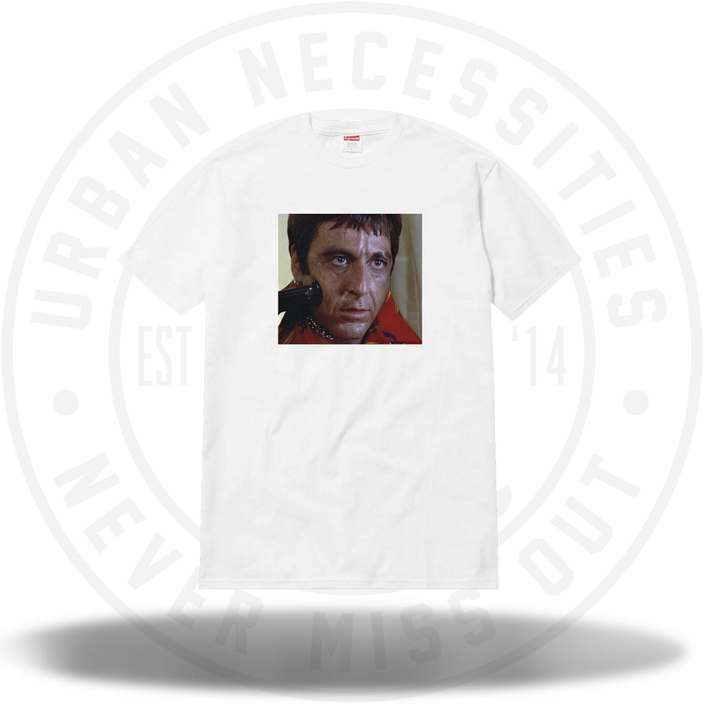 Supreme Scarface Shower Tee White-Urban Necessities