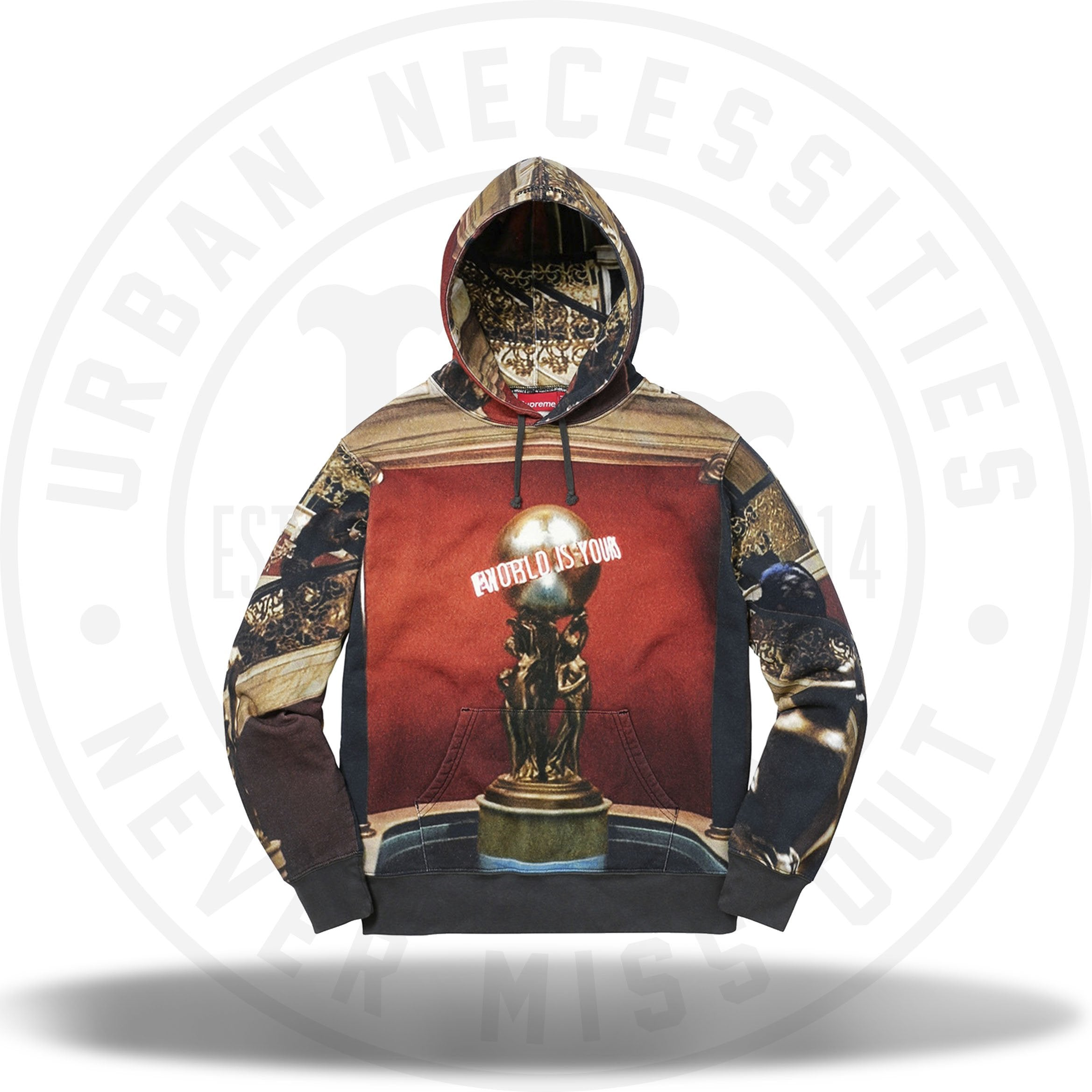 Supreme Scarface The World Is Yours Hooded Sweatshirt Urban Necessities