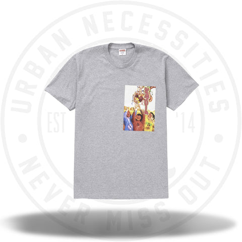 Supreme Sekintani La Norihiro Tee Heather Grey-Urban Necessities