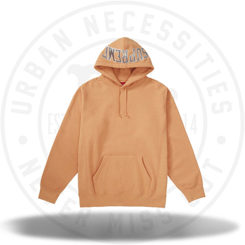 90f205bafbb6 Supreme Sequin Arc Hooded Sweatshirt Pale Orange-Urban Necessities