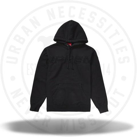 Supreme Set In Logo Hooded Sweatshirt Black-Urban Necessities