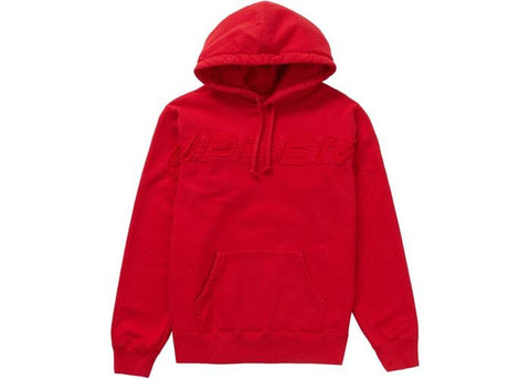 Supreme Set In Logo Hooded Sweatshirt Red SS19-Urban Necessities