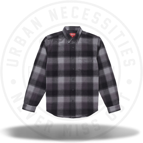 Supreme Shadow Plaid Flannel Shirt Black-Urban Necessities